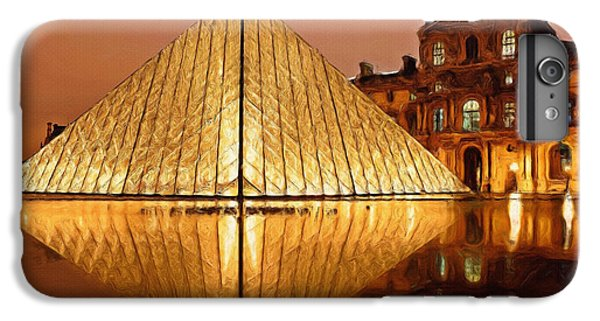 The Louvre By Night IPhone 6 Plus Case by Ayse Deniz