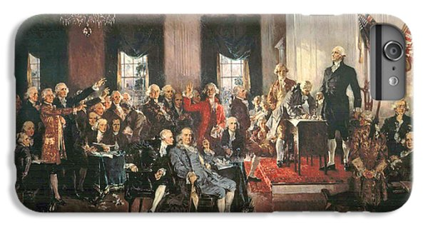 The Signing Of The Constitution Of The United States In 1787 IPhone 6 Plus Case by Howard Chandler Christy