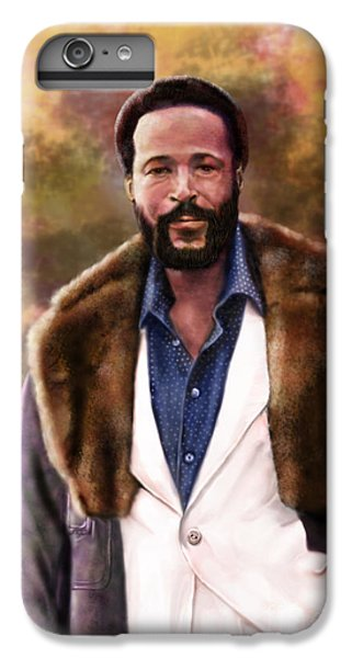 The Silky Silky Soul Singer - Marvin Gaye  IPhone 6 Plus Case by Reggie Duffie