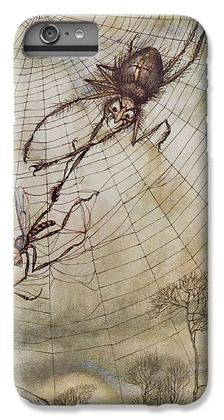 The Spider And The Fly IPhone 6 Plus Case by Arthur Rackham