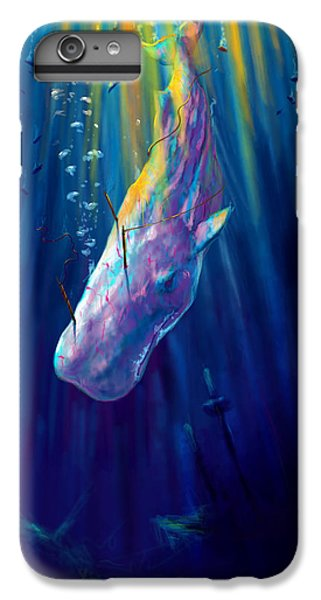 Thew White Whale IPhone 6 Plus Case by Yusniel Santos