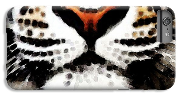 Tiger Art - Burning Bright IPhone 6 Plus Case by Sharon Cummings