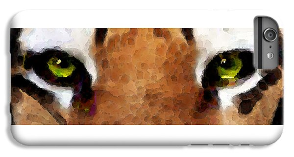 Tiger Art - Hungry Eyes IPhone 6 Plus Case by Sharon Cummings