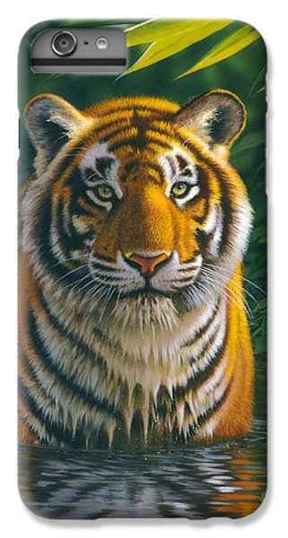 Tiger Pool IPhone 6 Plus Case by MGL Studio - Chris Hiett