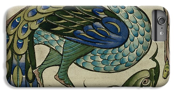 Tile Design Of Heron And Fish IPhone 6 Plus Case by Walter Crane