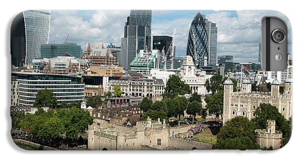 Tower Of London And City Skyscrapers IPhone 6 Plus Case by Mark Thomas