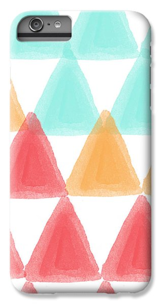 Trifold- Colorful Abstract Pattern Painting IPhone 6 Plus Case by Linda Woods
