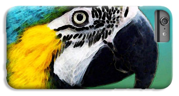 Tropical Bird - Colorful Macaw IPhone 6 Plus Case by Sharon Cummings