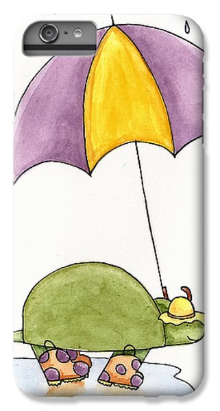 Turtle In The Rain IPhone 6 Plus Case by Christy Beckwith