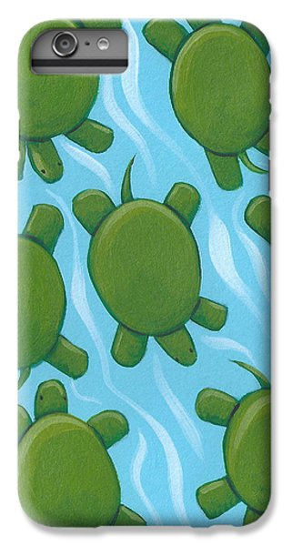 Turtle Nursery Art IPhone 6 Plus Case by Christy Beckwith