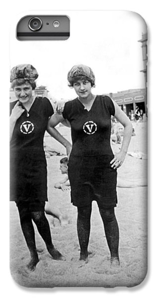 Two Girls At Venice Beach IPhone 6 Plus Case by Underwood Archives