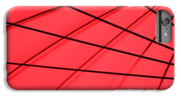 Red And Black Abstract IPhone 6 Plus Case by Tony Grider