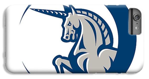 Unicorn Horse Prancing Side IPhone 6 Plus Case by Aloysius Patrimonio