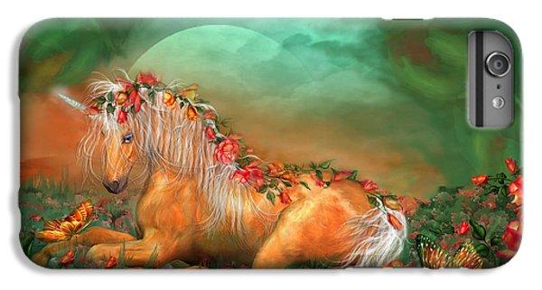 Unicorn Of The Roses IPhone 6 Plus Case by Carol Cavalaris