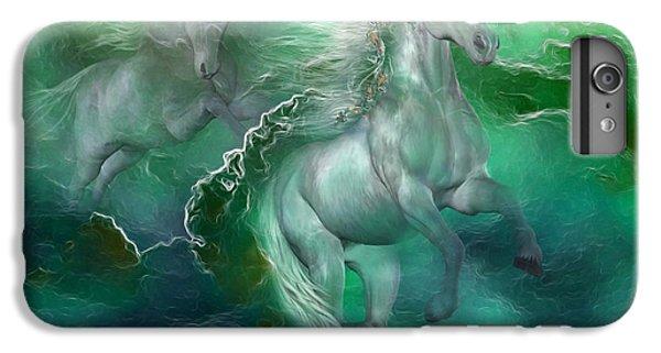 Unicorns Of The Sea IPhone 6 Plus Case by Carol Cavalaris