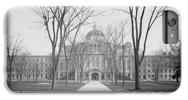 University Hall, University Of Michigan, C.1905 Bw Photo IPhone 6 Plus Case by Detroit Publishing Co.