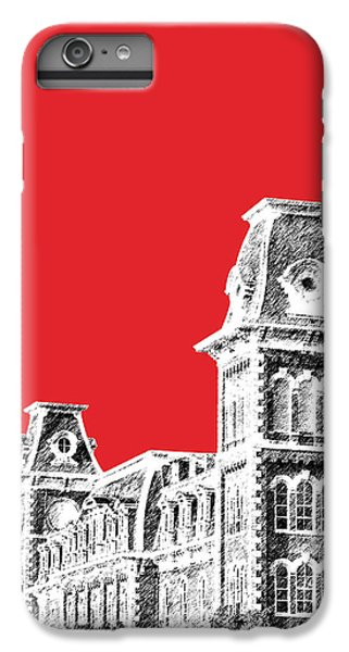 University Of Arkansas - Red IPhone 6 Plus Case by DB Artist
