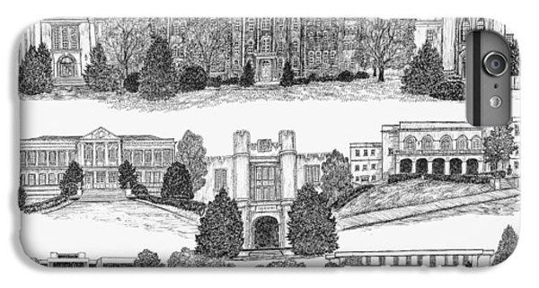 University Of Arkansas Fayetteville IPhone 6 Plus Case by Liz  Bryant