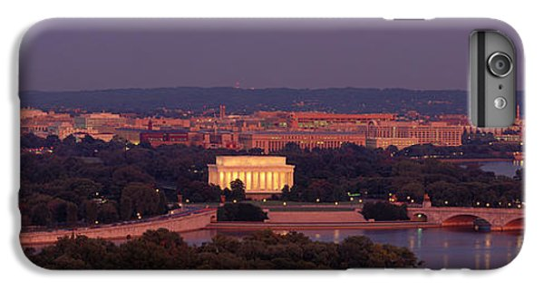 Usa, Washington Dc, Aerial, Night IPhone 6 Plus Case by Panoramic Images