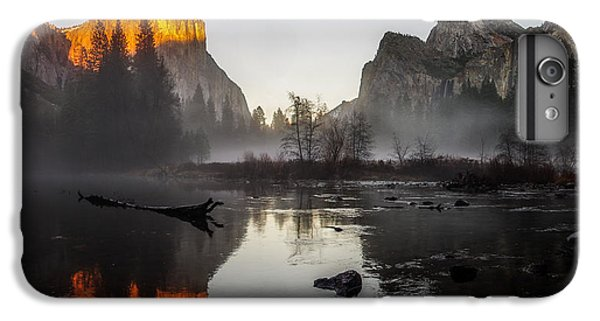 Valley View Yosemite National Park Winterscape Sunset IPhone 6 Plus Case by Scott McGuire