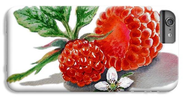 Artz Vitamins A Very Happy Raspberry IPhone 6 Plus Case by Irina Sztukowski