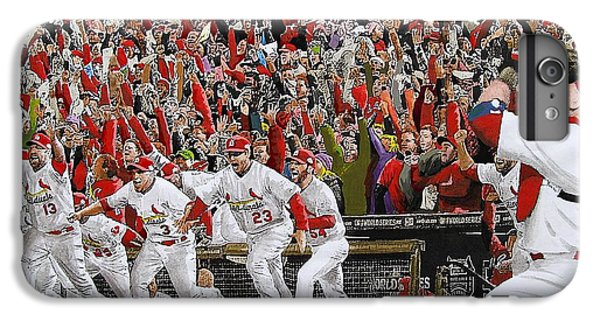 Victory - St Louis Cardinals Win The World Series Title - Friday Oct 28th 2011 IPhone 6 Plus Case by Dan Haraga