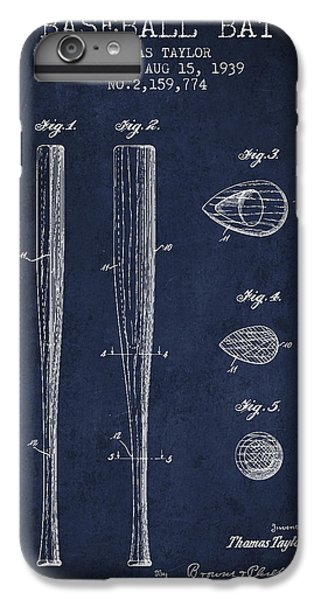 Vintage Baseball Bat Patent From 1939 IPhone 6 Plus Case by Aged Pixel