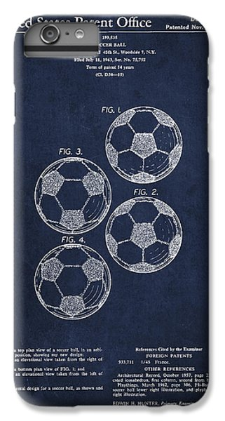 Vintage Soccer Ball Patent Drawing From 1964 IPhone 6 Plus Case by Aged Pixel