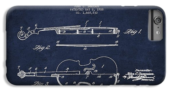 Vintage Violin Patent Drawing From 1928 IPhone 6 Plus Case by Aged Pixel