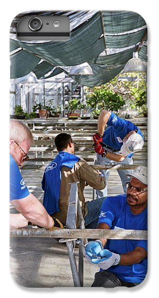Volunteers At A Botanic Garden IPhone 6 Plus Case by Jim West