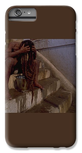 IPhone 6 Plus Case featuring the photograph Varanasi Hair Wash by Travel Pics