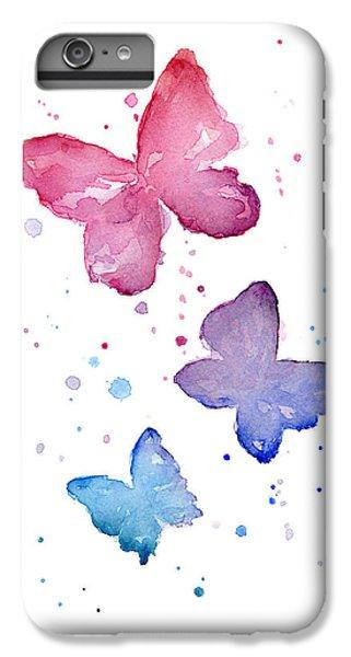 Watercolor Butterflies IPhone 6 Plus Case by Olga Shvartsur