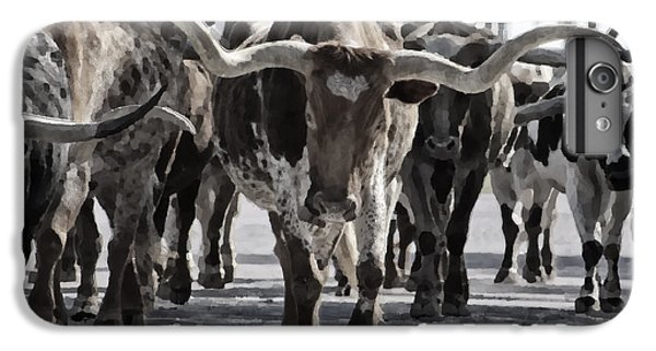 Watercolor Longhorns IPhone 6 Plus Case by Joan Carroll