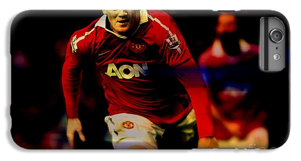 Wayne Rooney IPhone 6 Plus Case by Marvin Blaine