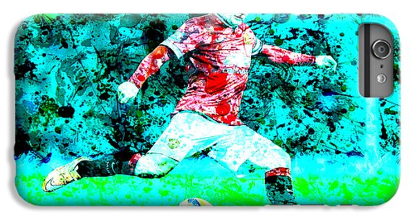 Wayne Rooney Splats IPhone 6 Plus Case by Brian Reaves