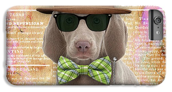 Weimaraner Bowtie Collection IPhone 6 Plus Case by Marvin Blaine