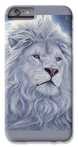 White Lion IPhone 6 Plus Case by Lucie Bilodeau
