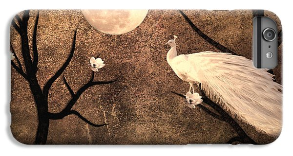 White Peacock IPhone 6 Plus Case by Sharon Lisa Clarke