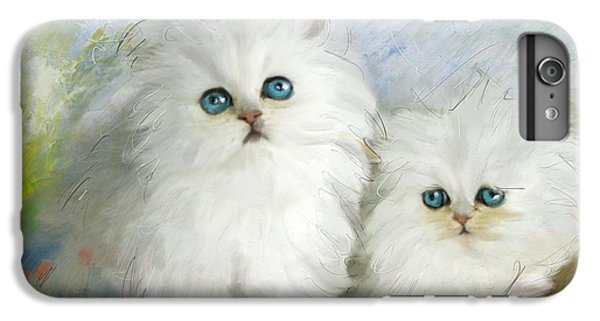 White Persian Kittens  IPhone 6 Plus Case by Catf
