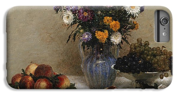 White Roses And Chrysanthemums IPhone 6 Plus Case by Ignace Henri Jean Fantin-Latour