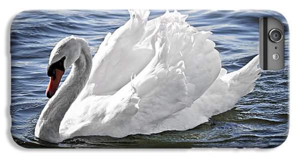 White Swan On Water IPhone 6 Plus Case by Elena Elisseeva
