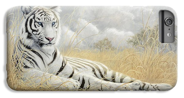 White Tiger IPhone 6 Plus Case by Lucie Bilodeau