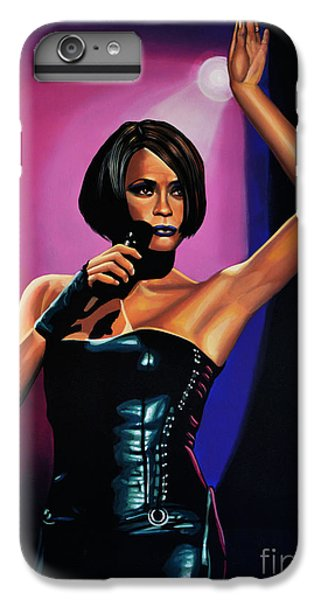 Whitney Houston On Stage IPhone 6 Plus Case by Paul Meijering