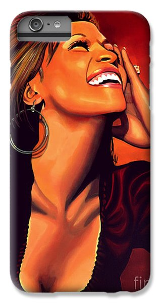 Whitney Houston IPhone 6 Plus Case by Paul Meijering
