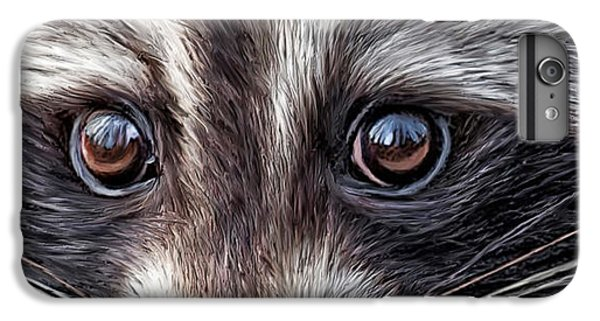 Wild Eyes - Raccoon IPhone 6 Plus Case by Carol Cavalaris