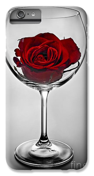 Wine Glass With Rose IPhone 6 Plus Case by Elena Elisseeva