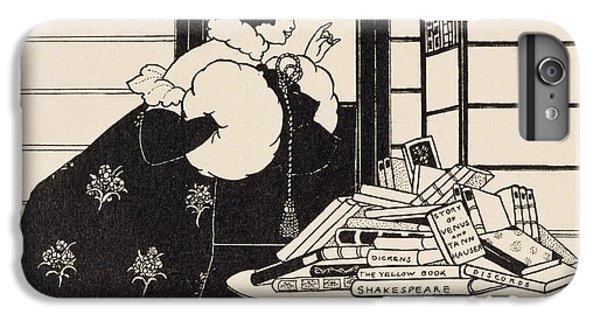 Woman In A Bookshop IPhone 6 Plus Case by Aubrey Beardsley