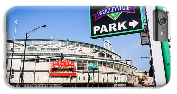 Wrigleyville Sign And Wrigley Field In Chicago IPhone 6 Plus Case by Paul Velgos