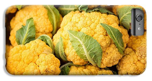 Yellow Cauliflower IPhone 6 Plus Case by Rebecca Cozart