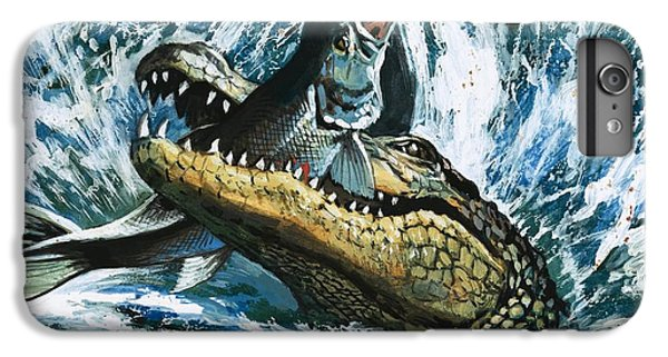 Alligator Eating Fish IPhone 6 Plus Case by English School
